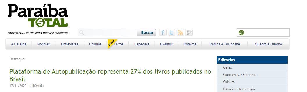 Plataforma de Autopublicação representa 27% dos livros publicados no Brasil — Paraíba Total